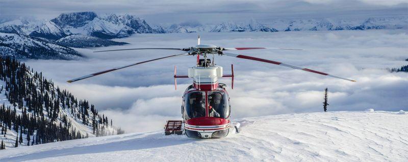 Bell 407 heliski